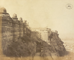 East face of Man Mandir and Fort, Gwalior